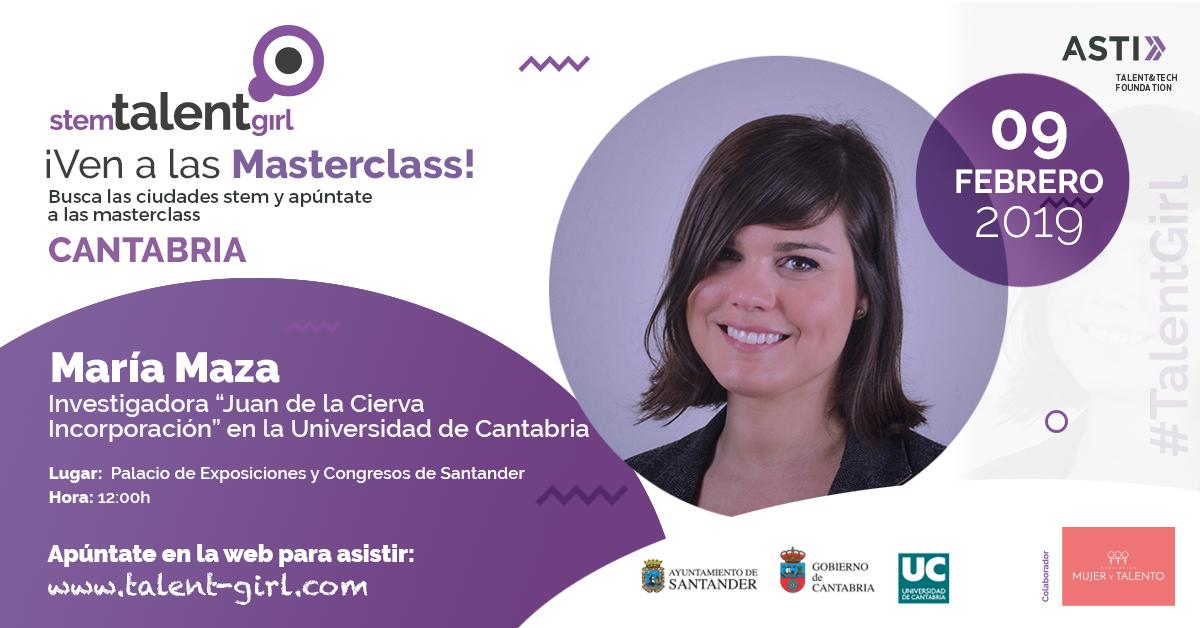 Nueva Masterclass Del Programa STEM Talent Girl En Cantabria