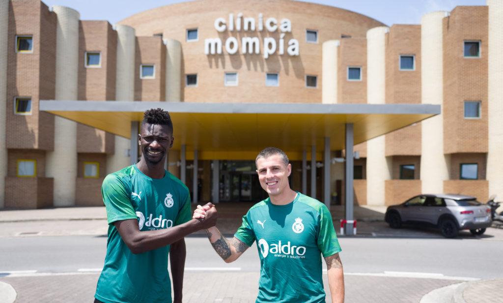 Nuha Marong y Abraham Minero pasan reconocimiento en Clínica Mompía, hospital de Igualatorio Cantabria